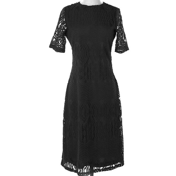 Sharagano Dresses & Skirts - Black Lace Dress